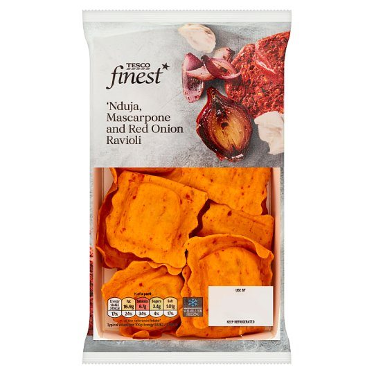 Tesco Finest Nduja, Mascarpone, Red Onion Ravioli 250G