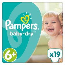 Pampers Baby Dry Size 6+Xl Carry 19 Pack