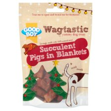 Wagtastic Pigs In Blankets Dog Treats 80G