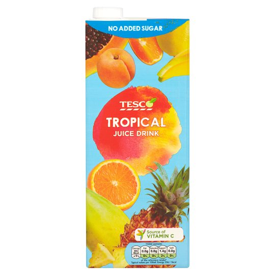 Tesco No Added Sugar Tropical Juice Drink 1.5 Litre