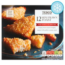 Tesco 12 Mini Prawn Toast 120G