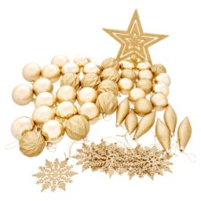 Tesco Gold Decorations 50 Pack