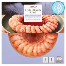 Tesco King Prawn Ring With Sweet Chilli Dip 280G