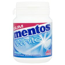 Mentos Gum White Peppermint Bottle 60G