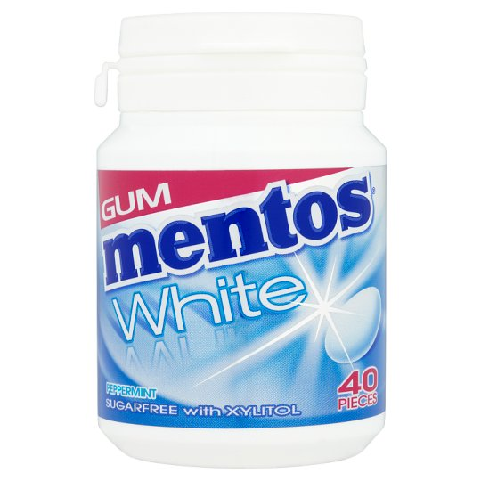 image 1 of Mentos Gum White Peppermint Bottle 60G