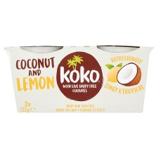 Koko Dairy Free Coconut And Lemon Yogurt Alternative 2 X125g
