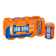 image 1 of Barr Irn-Bru 8 X 330Ml Pack (L)