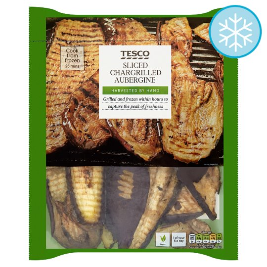 Tesco Sliced Aubergine 400G