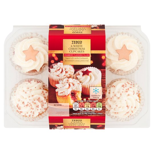 Tesco Christmas Cupcakes 6 Pack