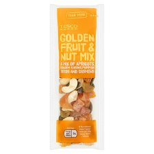 Tesco Golden Fruit And Nut Mix 25G