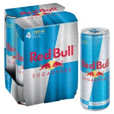 Red Bull Sugar Free Energy 4 X 250Ml