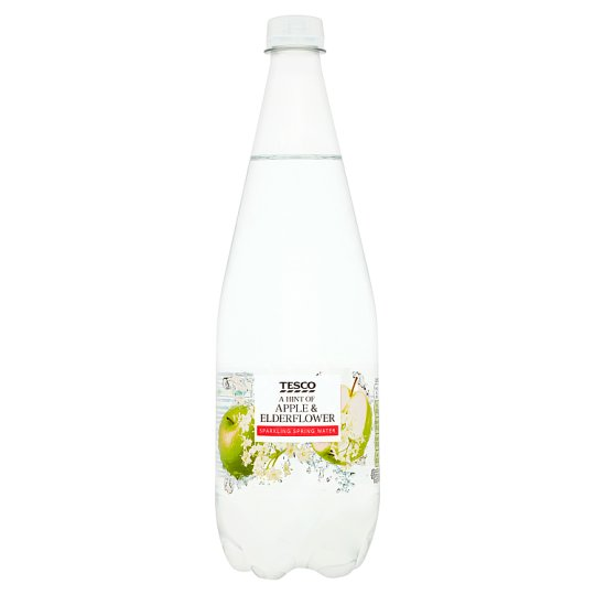 Tesco A Hint Of Apple And Elderflower Sparkling Water 1L