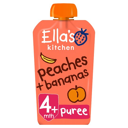 Ella's Kitchen Peaches Plus Banana Stage 1 X 120G