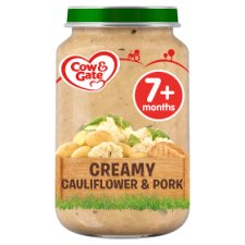 Cow & Gate Stage 2 Cauliflower Pork 200G Jar