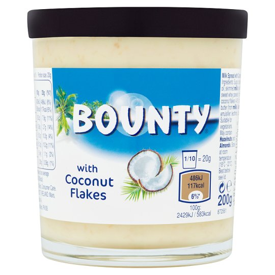 Bounty Chocolate Spread With Coconut 200G