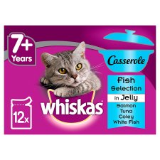 image 1 of Whiskas Senior Fish Casserole Jelly 7+ Cat Pouches 12 Pack