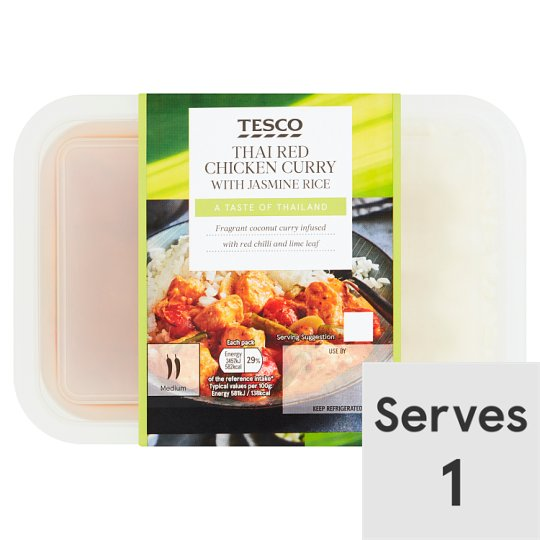 Tesco Red Thai Curry And Rice 450G