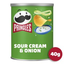 Pringles Sour Cream And Onion Snacks 40 G