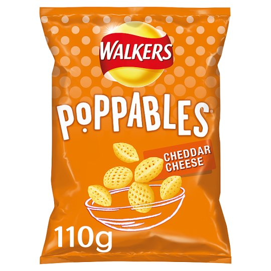 Walkers Poppables Cheddar Cheese Snacks 110G