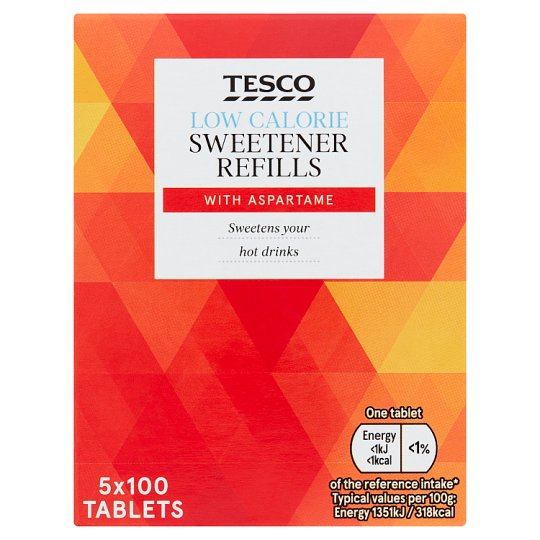 Tesco Sweetener Tablets Refill 5X100pk