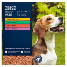 Tesco Tender Dog Food Pate 12 X150g
