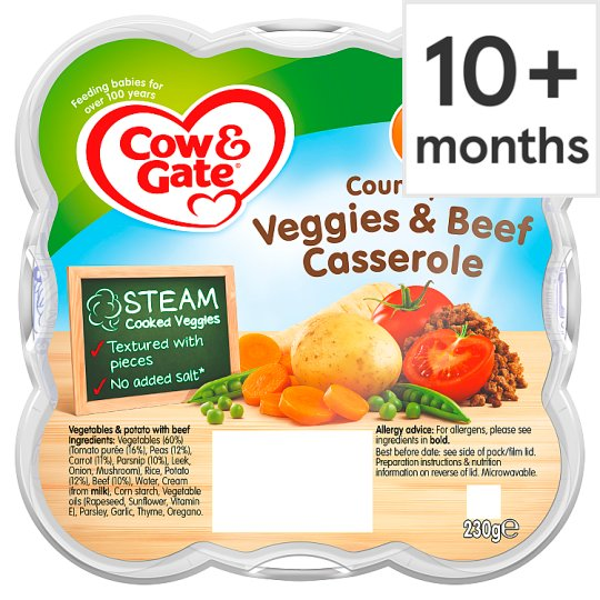 Cow & Gate Country Vegetable And Beef Casserole 230G 10 Mth+