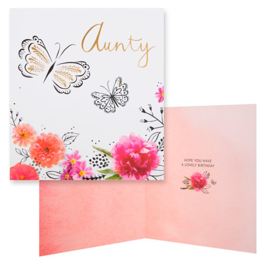 Hallmark Birthday Card Aunty
