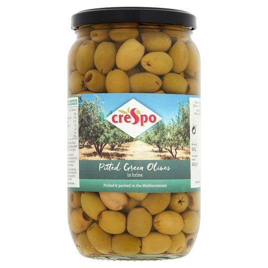 Crespo Pitted Green Olives In Brine 820G