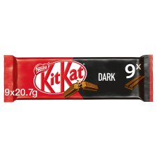 Kit Kat 2 Finger Dark Chocolate Biscuits 9 Pack 186.3G