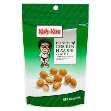 Koh Kae Chicken Flavour Coated Peanuts 90G