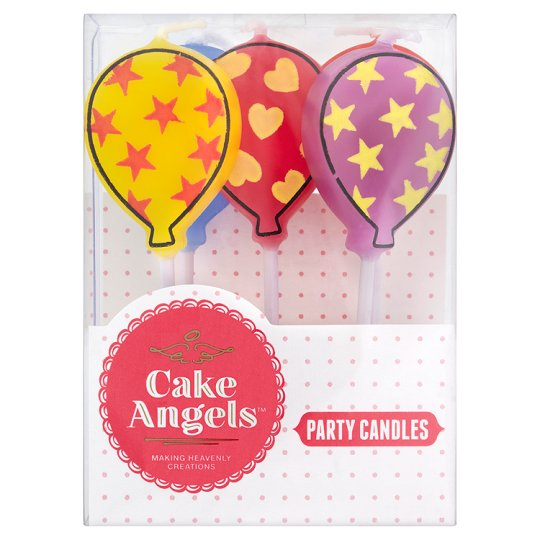 Plastic Christmas Cake Decorations Tesco : Cake Angels Balloon Party Candles 5 S - Groceries - Tesco ...