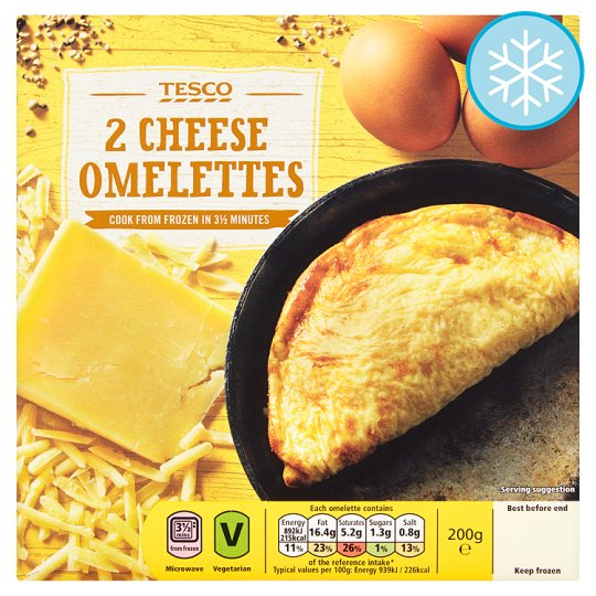 Tesco Everyday Value 2 Cheese Omelettes 200G