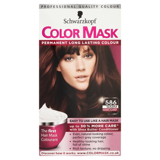 Schwarzkopf Color Mask 586 Warm Mahogany Groceries Tesco Groceries  Dark Bro
