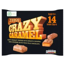 Tesco Crazy Caramel Bars 14 Pack 257G