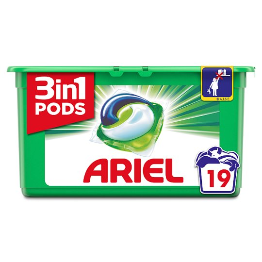 Ariel 3In1 Pods Washing Capsules 19 Washes