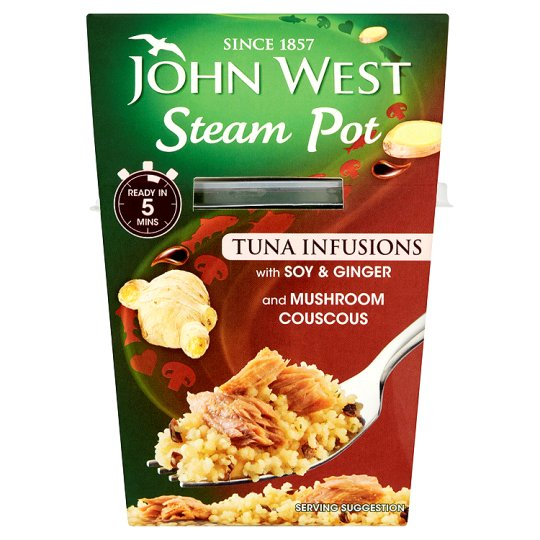 John West Steam Pot Tuna Infusions Soy Ginger 150G