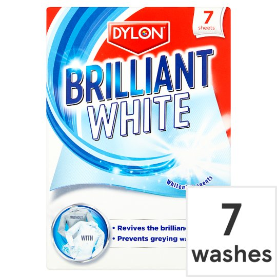 Dylon white bright 7 sheets groceries tesco groceries - Wash white sheets keep fresh ...