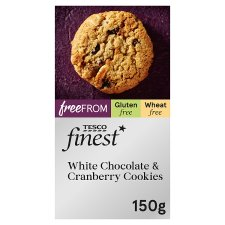 Tesco Finest Free From Chocolate And Cranberry Cookies 150G