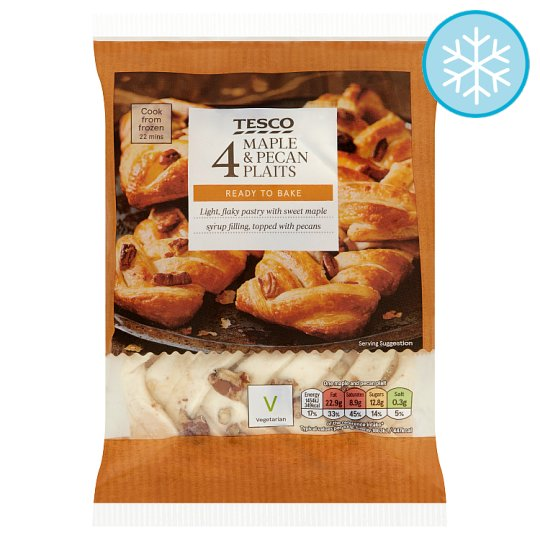 Tesco 4 Maple And Pecan Plaits 355G