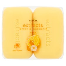 Tesco Extracts Lemon And Mandarin Soap 4X125g