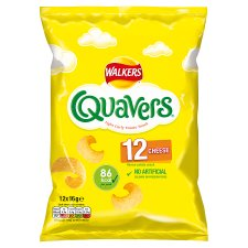 Walkers Quavers Cheese Snacks 12 X 16 G