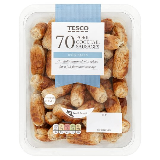 Tesco 70 Cocktail Sausages 616G