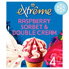 Extreme Raspberry Double Cream Ice Cream Cone 4X120ml