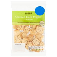 Tesco Cracked Black Pepper Croutons 28G