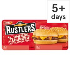 Rustlers Cheese Burger Twin Pack 280G