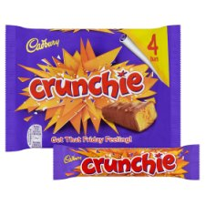 image 2 of Cadbury Crunchie Chocolate Multipack 4 X32g