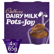 Cadbury Dairy Milk Pots Of Joy Chocolate Dessert 4Pack 260G