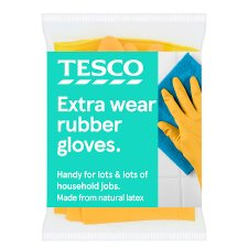 Tesco Extra Wear Rubber Gloves 1 Large