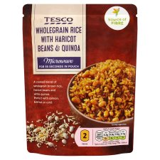 Tesco Wholegrain Rice Haricot Beans And Quinoa 250G