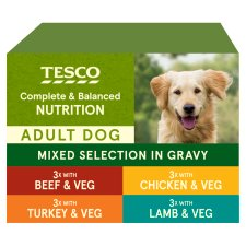 Tesco Dog Pouch Cuts In Gravy 12 X100g